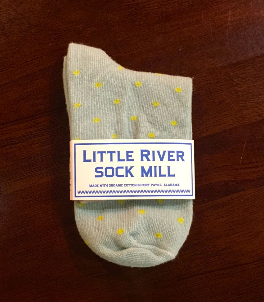 Little River Sock Mill Polka Dot Anklet - Gulf Wave/Green - Key North  Boutique